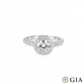 White Gold Round Brilliant Cut Diamond Ring 0.94ct F/VS2